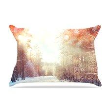 Snap Studio 'Winter Walkway' Snowy Pillow Case