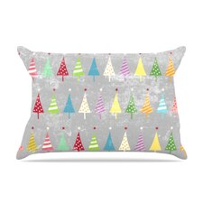 Snap Studio 'Crazy Trees Frost' Rainbow Pillow Case