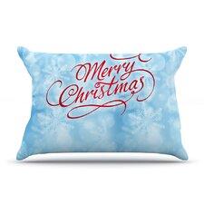 Snap Studio 'Merry Christmas' Typography Pillow Case