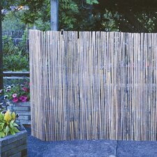Split Bamboo Screen Divider with Galvanised Wire