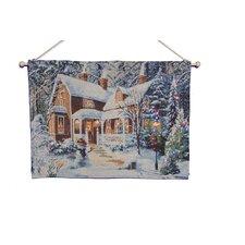 Fibre Optic House Scene Tapestry