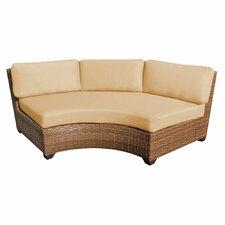 Laguna Curved Armless Sofa with Cushions