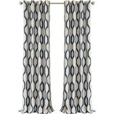 Renzo Geometric Blackout Grommet Single Curtain Panel