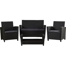 Feltonville 4 Piece Deep Seating Group with Cushion