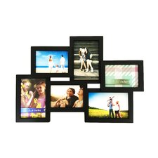 quick view 6 photo collage puzzle style picture frame