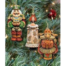3 Piece Nutcracker Story Ornament Set