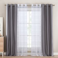 Matilda Solid Semi-Sheer Single Curtain Panels