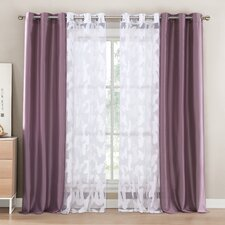 Genevieve Wildlife Sheer Single Curtain Panels