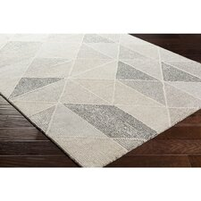 Madero Hand-Tufted Charcoal/Ivory Area Rug