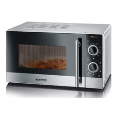 Countertop Microwave Grill : 20L 700W Countertop Microwave with Grill in Silver