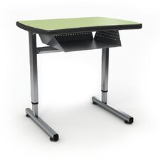 A&D Wood Adjustable Height Open Front Desk