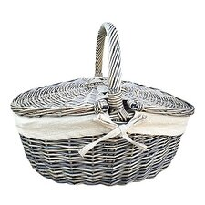 Picnic Basket with Oatmeal Lining