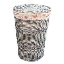 Wicker Laundry Bin  with Garden Rose Lining