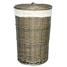 Wicker Laundry Bin with Lining