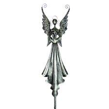 Angel Holding Bird Garden Stake