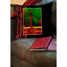 African Beauty 1 Printed Throw Pillow