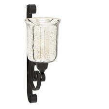 Glass and Iron Sconce