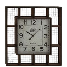Industrial Grand Hotel Wall Clock