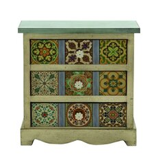 3 Drawer Traditional Canvas Table Chest