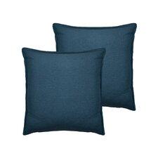Lombard Reversible Decorative Linen Throw Pillow (Set of 2)