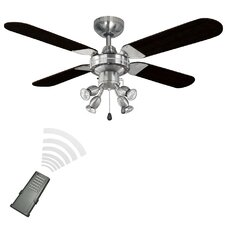 106cm Scimitar 4-Blade Ceiling Fan with Remote