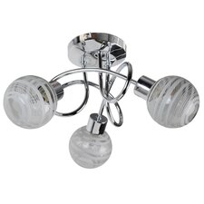 3 Light Semi Flush Ceiling Light