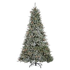7.5' Green Pine Artificial Christmas Tree with 750 Incandescent Clear Lights