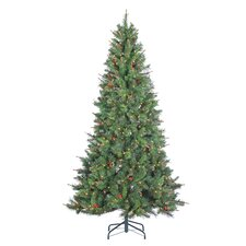 7.5' Green Spruce Artificial Christmas Tree with 500 Incandescent Clear Lights