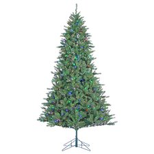 7.5' Green Pine Artificial Christmas Tree with 600 LED Multicolor Lights