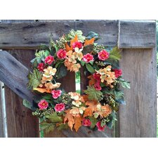 "22"" Autumn Hydrangea Mix Wreath"