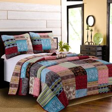 Bohemian Dream Reversible Quilt Set