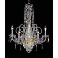 Atherstone 5-Light Gold/Clear Crystal Chandelier
