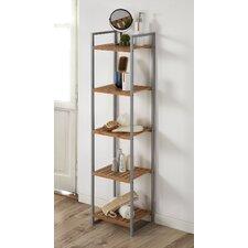 Bamboo/Metal 5 Shelf Etagere