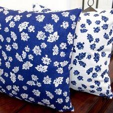 Tossed Flowers Linen Reversible Modern Linen Throw Pillow