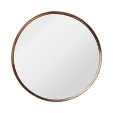 nova round metal framed mirror