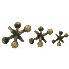 3 Piece Jacks Sculpture Set