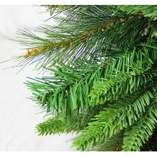 4.5' Green Cashmere Mixed Pine Artificial Christmas Tree with 250 LED Warm Clear Lights with Stand