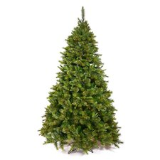 7.5' Green Cashmere Mixed Pine Artificial Christmas Tree with Unlit Light with Stand