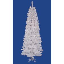 Winston 6.5' White Pine Artificial Christmas Tree with 250 LED Warm White Lights with Stand