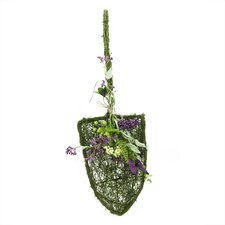 Decorative Mixed Berry and Butterfly Artificial Floral Shovel Accent