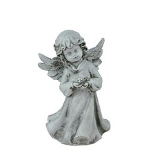 Heavenly Gardens Cherub Angel Girl with Flower Outdoor Patio Garden Statue