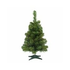 "18"" Green Pine Artificial Christmas Tree with Unlit Light with Stand"