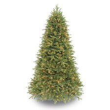 7.5' Green Fir Artificial Christmas Tree with 800 Clear Lights with Stand