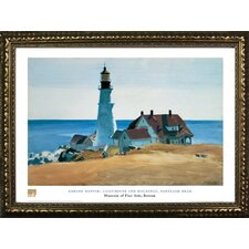 Lighthouse and Buildings, Portland Head by Edward Hopper Framed Painting Print
