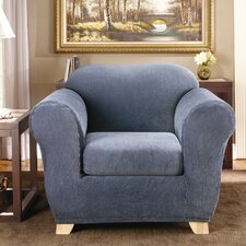 Stretch Stripe Armchair Slipcover  by Sure Fit