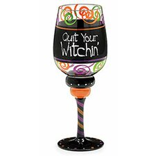 Quit Your Witchin 12 Oz. Wine Glass (Set of 4)