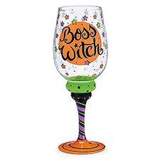 Witch Boss 20 Oz. Wine Glass (Set of 4)