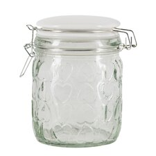 Confetti 3 Piece Embossed Glass Storage Jar Set