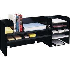 "Desk Organizer w/Dividers, 47-1/4""x9-1/2""x18-3/8"", Black"
