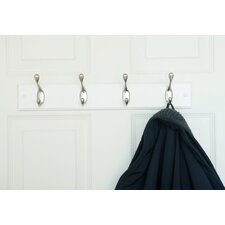 Wall Mounted Coat Rack with 4 Hooks